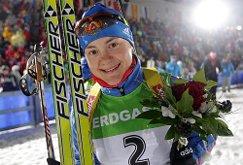 Биатлонистка Екатерина Юрлова победила в гонке преследования на ЧР