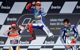 Лоренцо победил на этапе MotoGP в Испании, Росси в 200-й раз поднялся на подиум