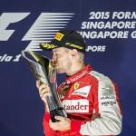 Феттель выиграл Гран-при Сингапура, Квят - шестой