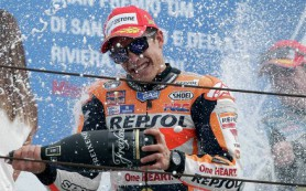 Испанский гонщик Honda Марк Маркес выиграл этап MotoGP в Сан-Марино