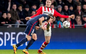 Футболисты ПСВ и «Атлетико» сыграли вничью в первом матче 1/8 финала Лиги чемпионов