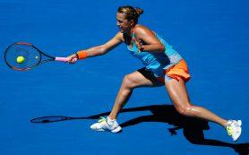 Анастасия Павлюченкова впервые в карьере вышла в четвертьфинал Australian Open
