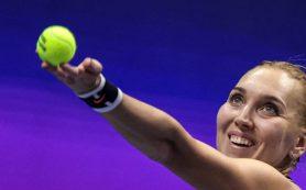 Веснина названа лучшей теннисисткой марта по версии WTA