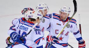 Игроки ХК СКА СКА победил «Авангард» и обновил рекорд КХЛ по стартовой победной серии
