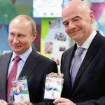 Путин и Инфантино получили паспорта болельщиков