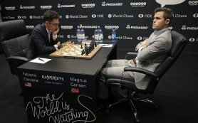 Карлсен и Каруана сыграли вничью в 4-ой партии на ЧМ по шахматам