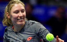 Александрова вышла в 1/4 финала теннисного турнира в Санкт-Петербурге