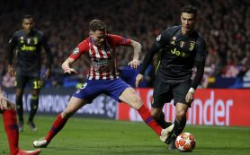 «Атлетико» забил два безответных мяча «Ювентусу» в Лиге чемпионов