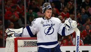 Российский голкипер «Тампы-Бэй» Андрей Василевский признан первой звездой игрового дня НХЛ
