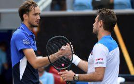 Медведев уступил Вавринке в пяти сетах в четвертом круге Australian Open