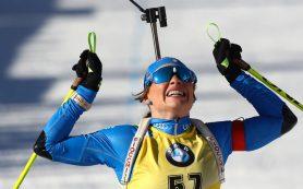 Итальянка Вирер выиграла индивидуальную гонку на ЧМ по биатлону