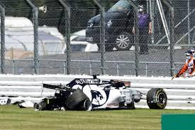 Квят попал в аварию по ходу гонки «Формулы-1»