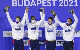 Российские пловцы выиграли эстафету 4х200 метров вольным стилем на ЧЕ