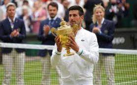 Джокович обыграл в финале Уимблдона Берреттини и выиграл 20-й трофей